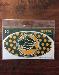 Saint Leo Decal Oval Polka Dots