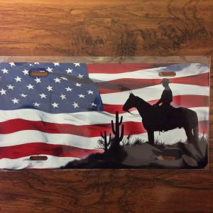 American Cowboy License Plate