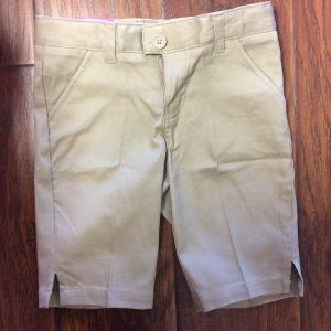 Girls Flat Front Bermuda Shorts