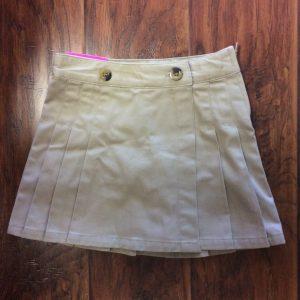 Girls Khaki Scooter Shorts