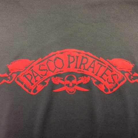 Pasco Pirates Long Sleeve Performance Tee Grey