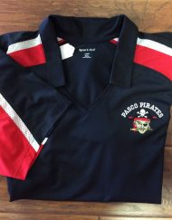 Ladies Pasco Pirates Tri-Colored Polo