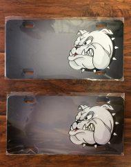 Bulldog Face License Plate