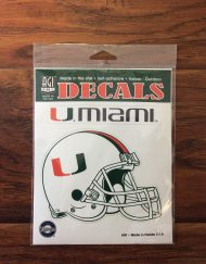 University of Miami Decal