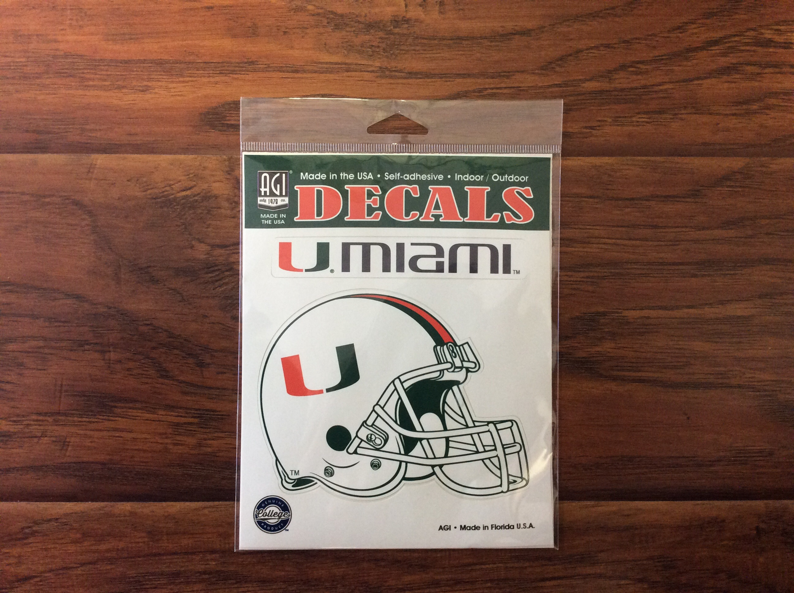 University of Miami Decal