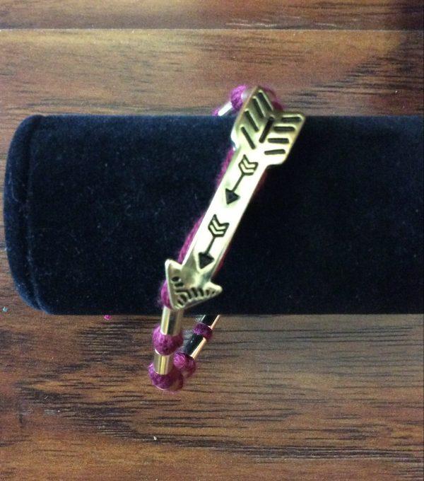 FSU Arrow Fabric Bracelet