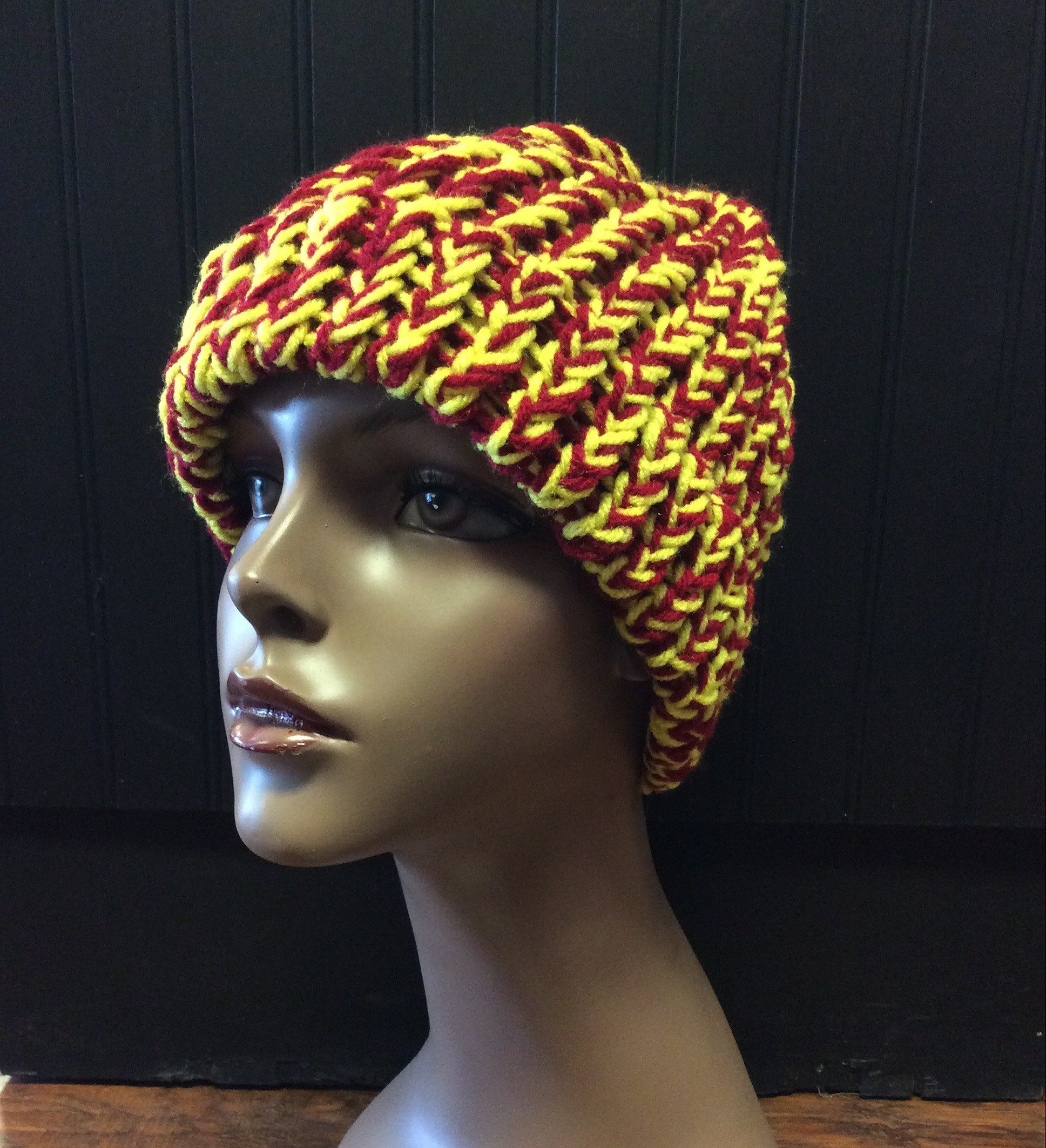 Jobeanies Locally Handmade Red and Gold