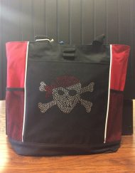 Bling pirate tote bag