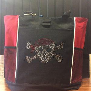 Bling pirate tote bag