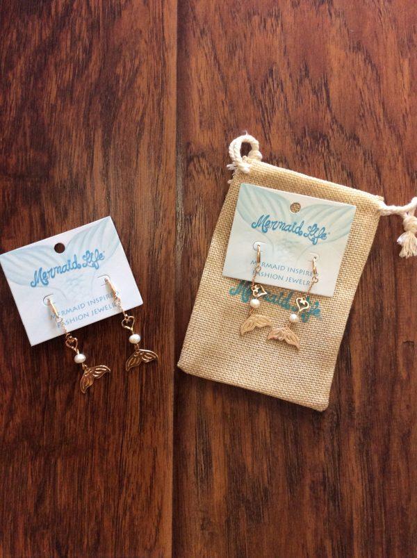 Mermaid Life Tail Drop Earrings
