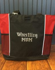 Bling Wrestling Mom Tote Bag