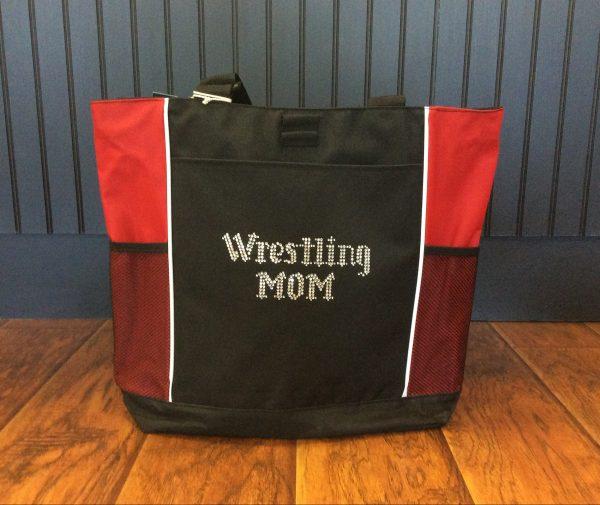 Bling Wrestling Mom Tote Bag