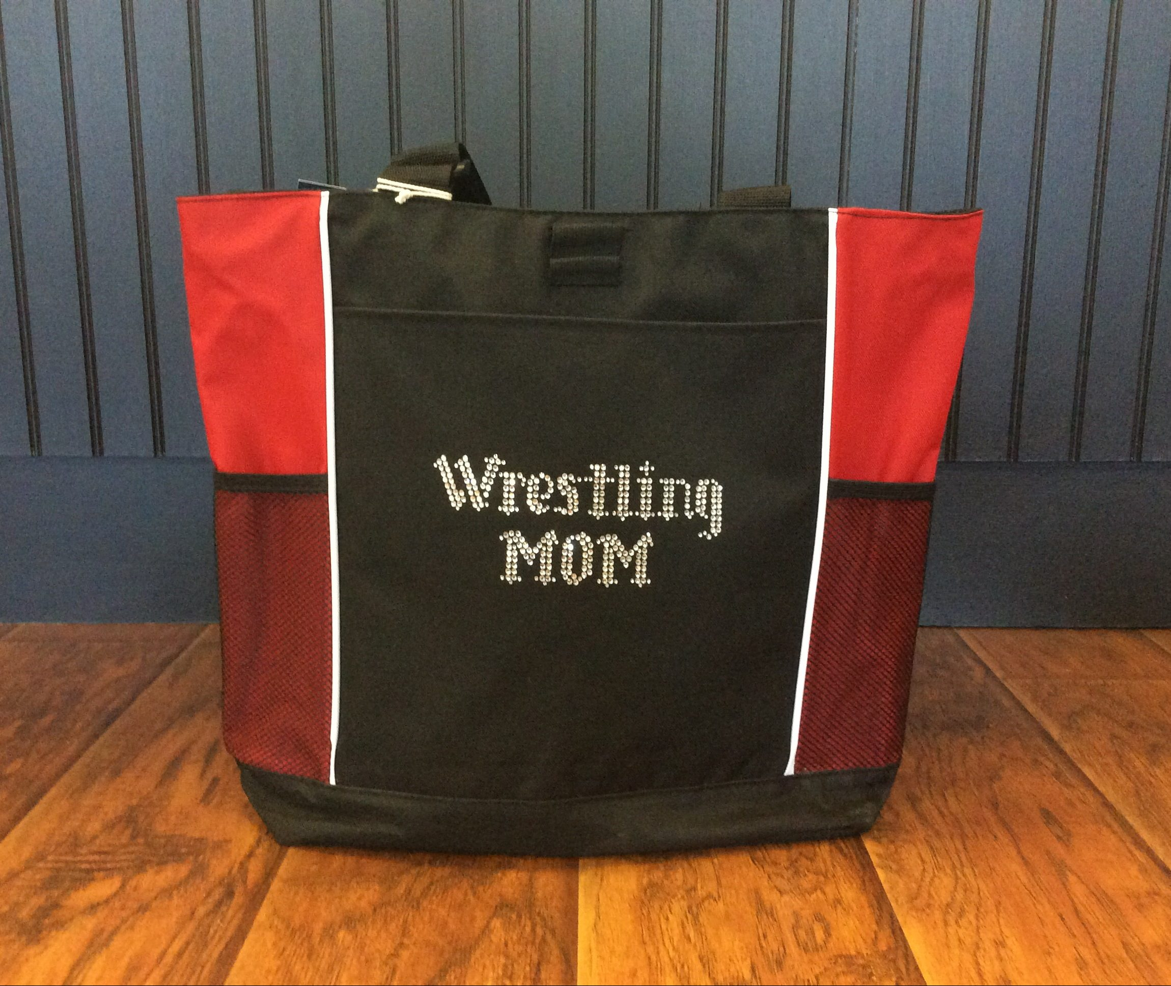 e7bd8eff033 Bling Wrestling Mom Tote Bag - Campus Gear