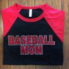Baseball Bling Mom Shirt