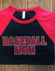 Baseball Bling Mom Shirt
