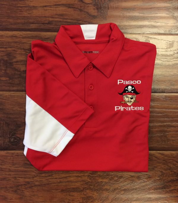 Men's Pasco Pirate Red/White Polo