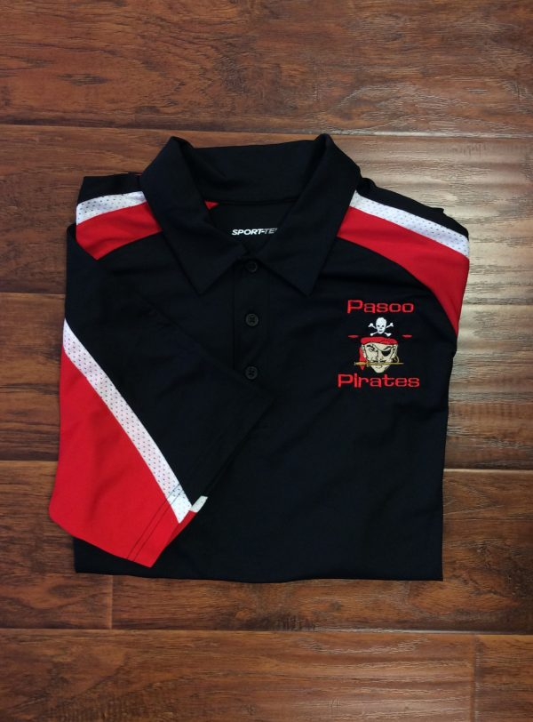 Men's Pasco Pirate Black Tri-Colored Polo