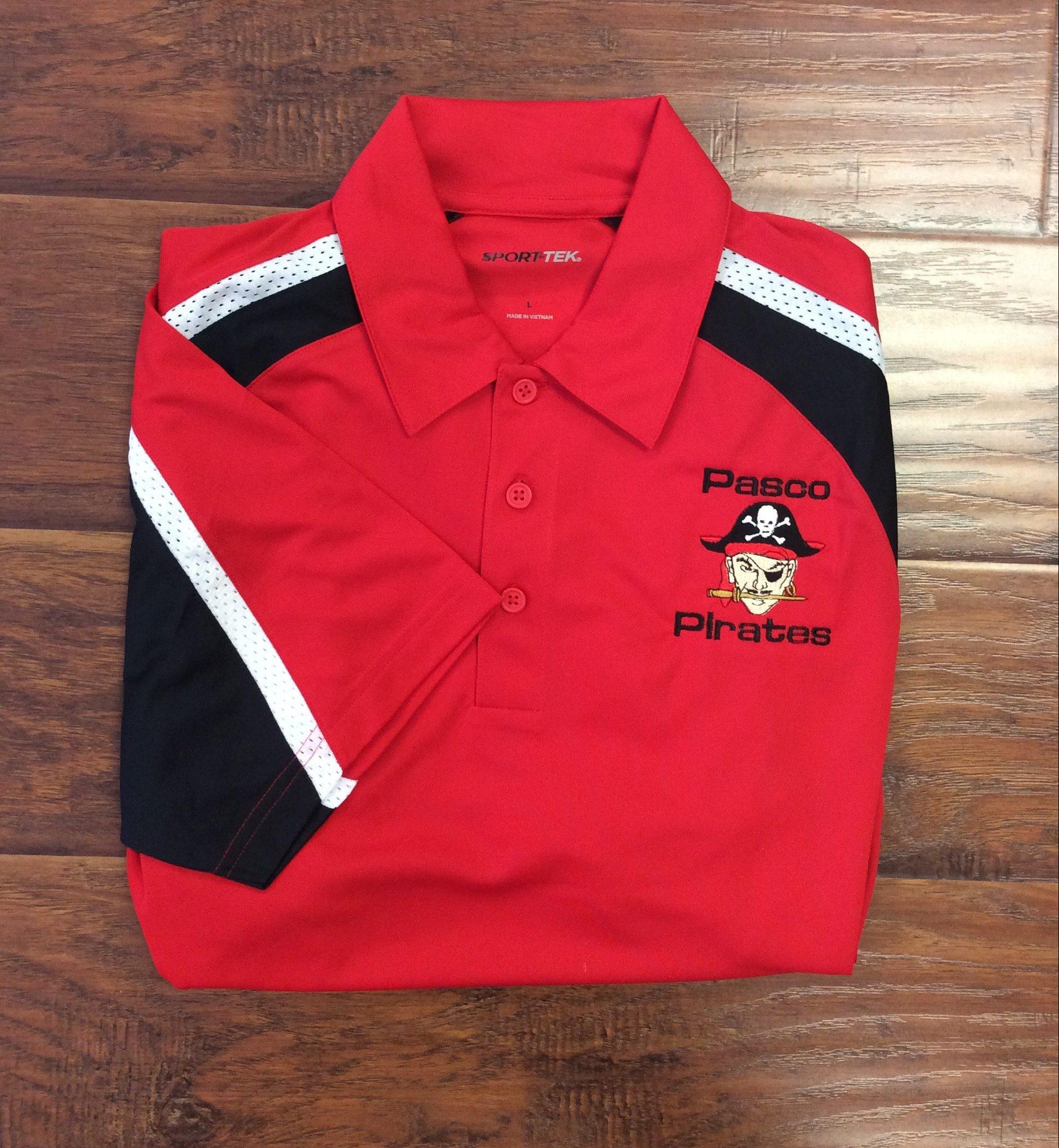 Men's Pasco Pirate Red Tri-Colored Polo