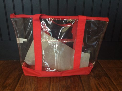 Clear tote front