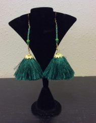 Silk drop tassel Earrings