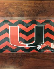 University of Miami chevron license plate