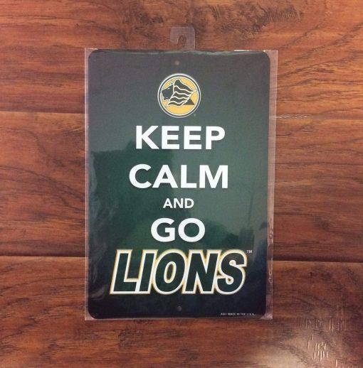 Saint Leo Keep Calm and Go Lions Metal Sign