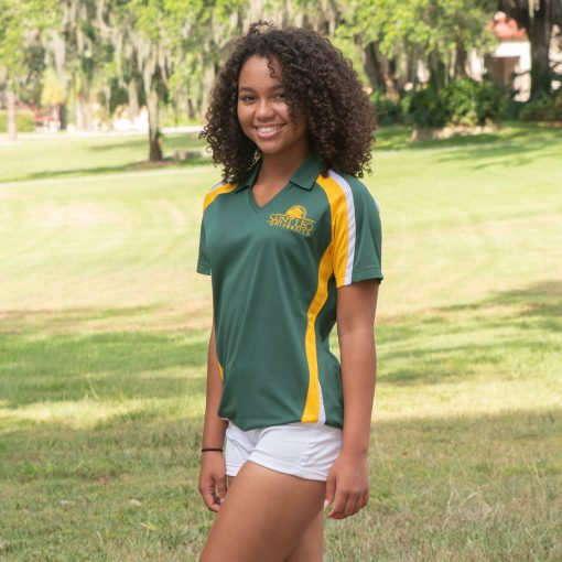 Ladies Saint Leo Tri-Colored Wicking Polo
