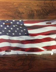 American Flag License Plate