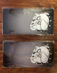Bulldog Face License Plate