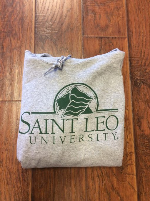 Saint Leo Hoodie Grey and Green