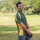 Men's Saint Leo Tri-Colored Wicking Polo