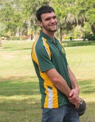Men's Saint Leo Tri-Colored Wicking Polo