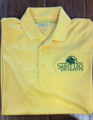 Men's Saint Leo Yellow Wicking Polo