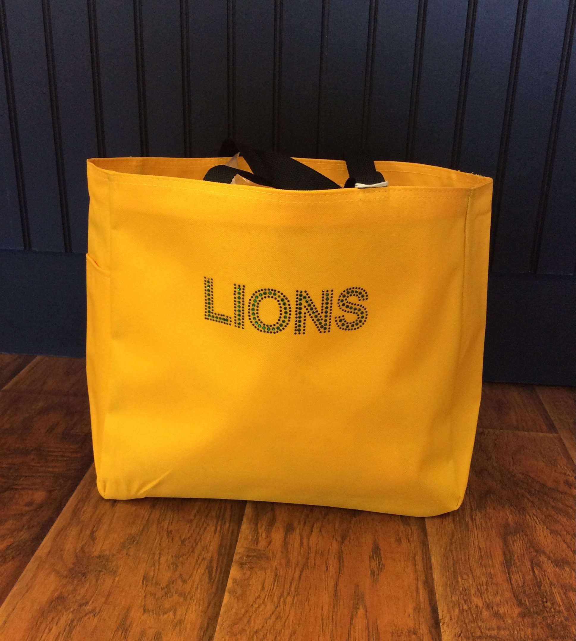 Yellow Bling Lions Tote