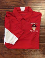 Men's Pasco Pirate Red/White Polo