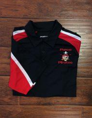 Men's Pasco Pirate Black Tri-Colored Polo