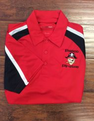 Men's Pasco Pirate Red Tri-Colored Polo