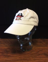White pirate head cap