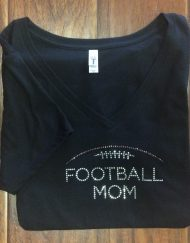 Football Mom Bling Black