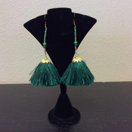 Silk drop tassel Earrings