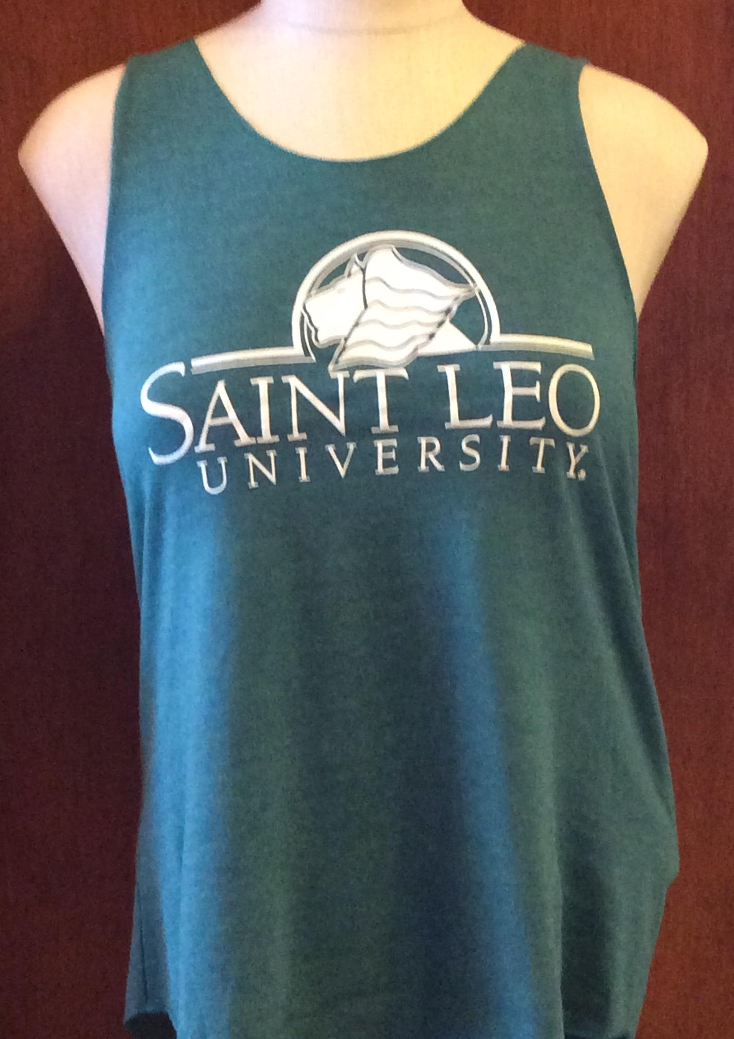 Saint Leo University Ladies Racerback Tank Top, Tri-Evergreen