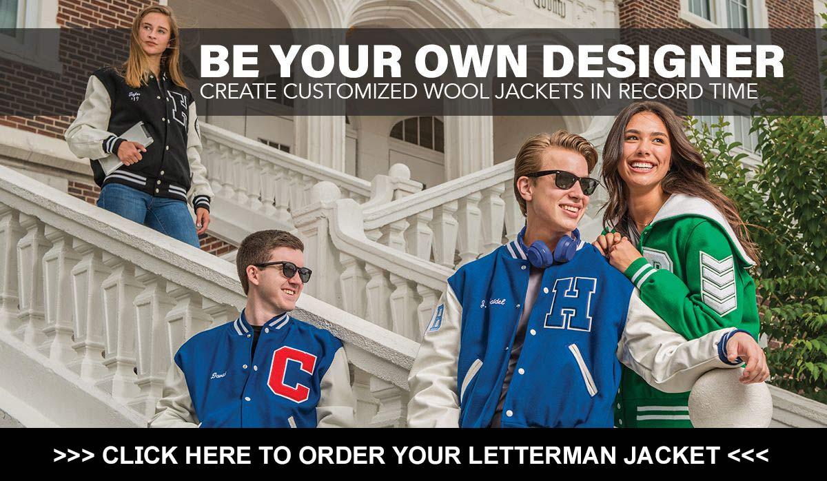 Order your custom letterman jacket